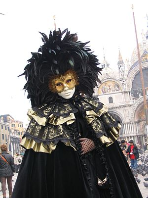 Woman in mask by Simo