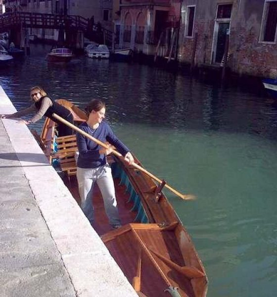 A Venetian who has never been on a boat?