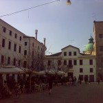Drinking coffee in Treviso