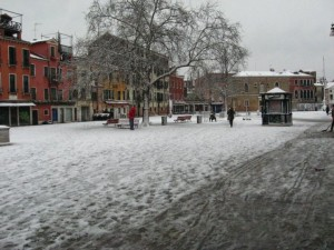More snow in Campo Santa Margherita
