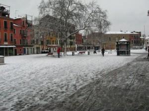 More snow in Campo Santa Margherita