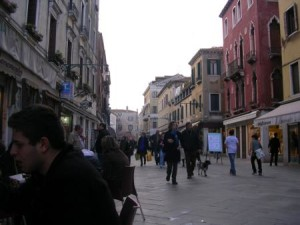 Bars, Cafes and Shops in Strada Nuova, Venice