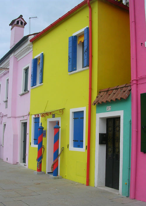 Burano, bright and yellow