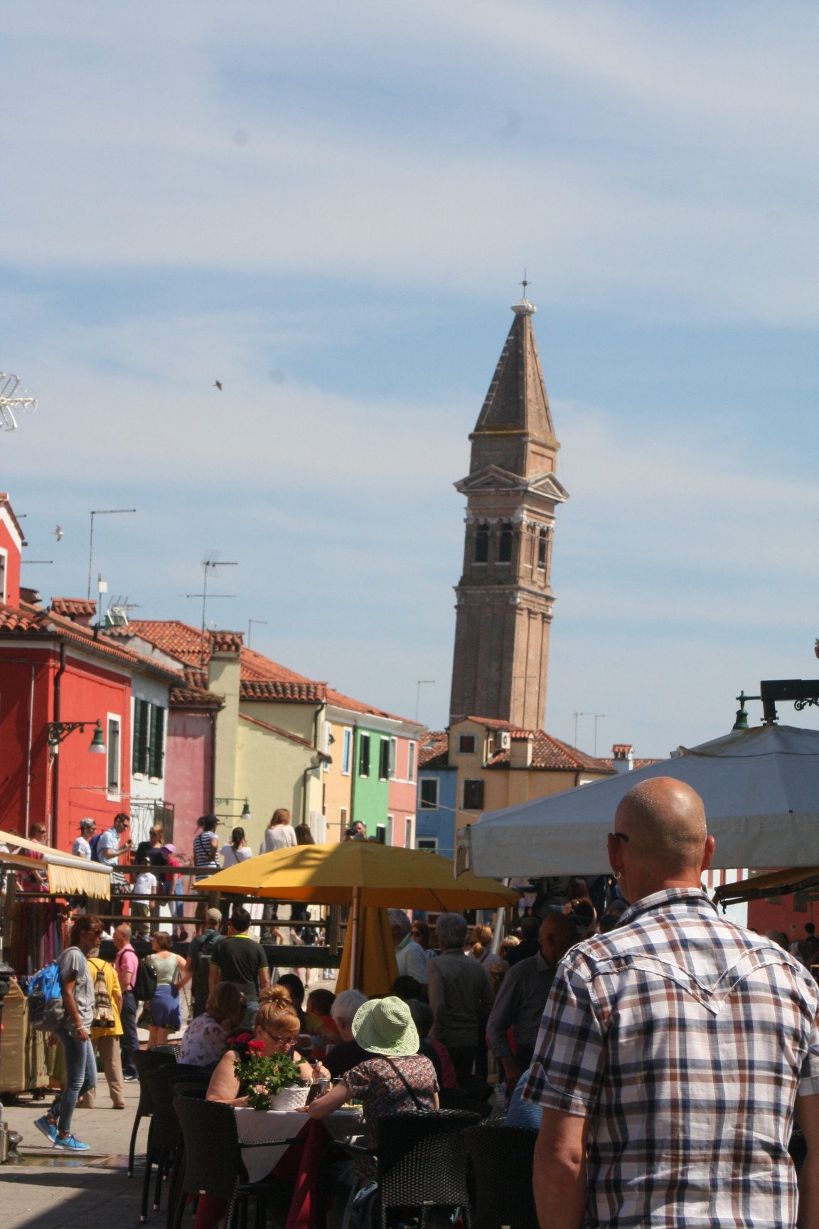 Burano, the leaning tower