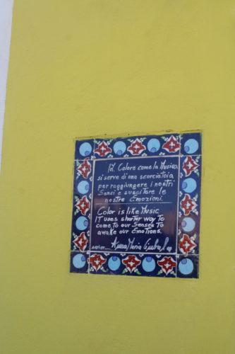 Burano, signs