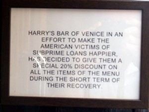 Harry's Bar in Venice by Gusto Wine Tours