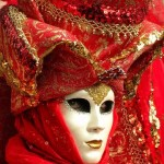 Red Venetian mask by Wine Gusto Tours