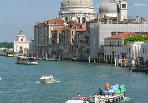 Basilica della Salute in the distance