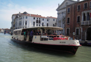 Riding on the Vaporetto in Venice