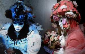 Pink and Blue in Venice Carnival