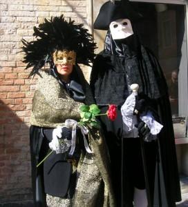 Classy costumes in Venice