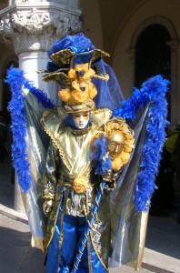 Flashing blue in Venice