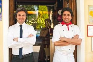 Emanuele & Paolo, proprietors of Restaurant Boccadoro, photo by Cibando