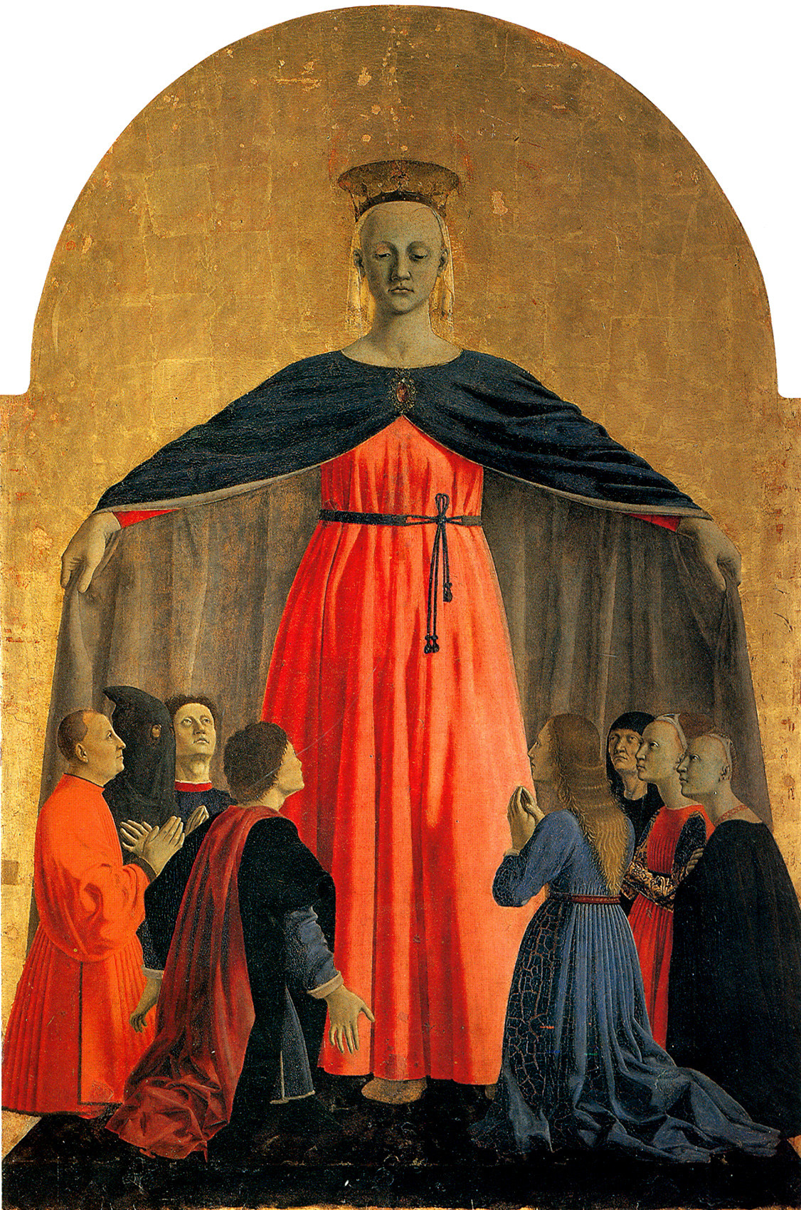 Piero della Francesca, Madonna della Misericordia, 1445-1462, olio su tavola. Museo Civico, Sansepolcro