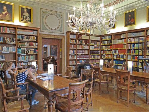Library at Fondazione Querini Stampalia by Jean-Pierre Dalbéra