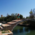Monica Cesarato in Torcello on the Devil's Bridge