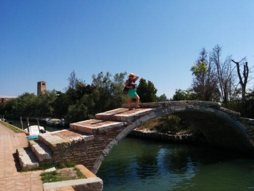 Monica Cesarato in Torcello on the Devil's Bridge