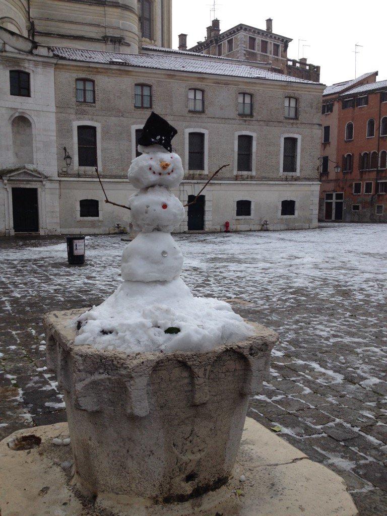 snow in venice 2017
