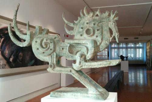 Han Meilin in Venice - statue