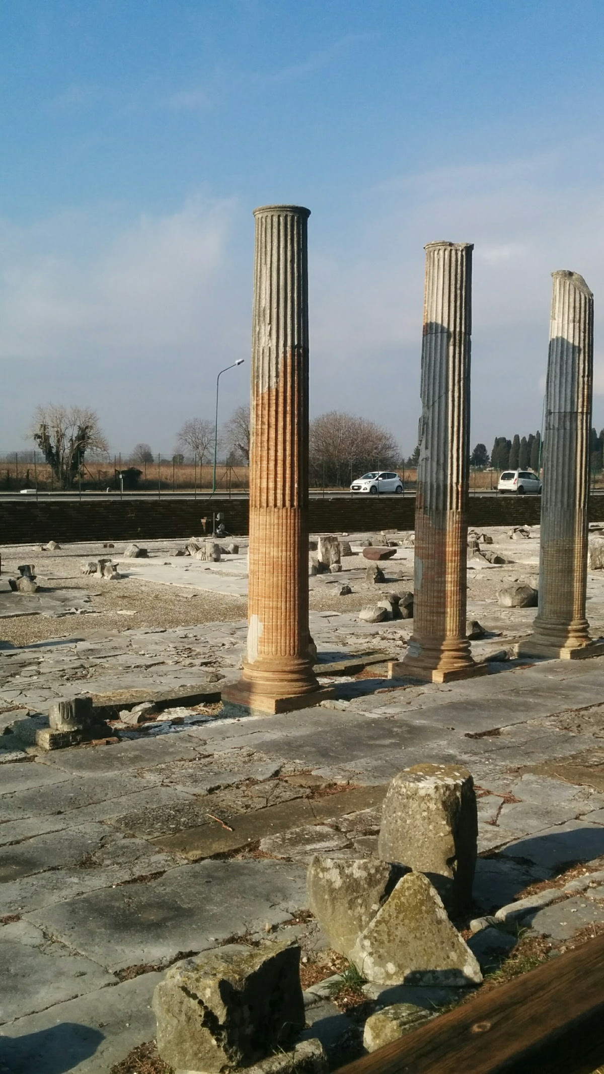 Columns in Roman Forum of Aquileia