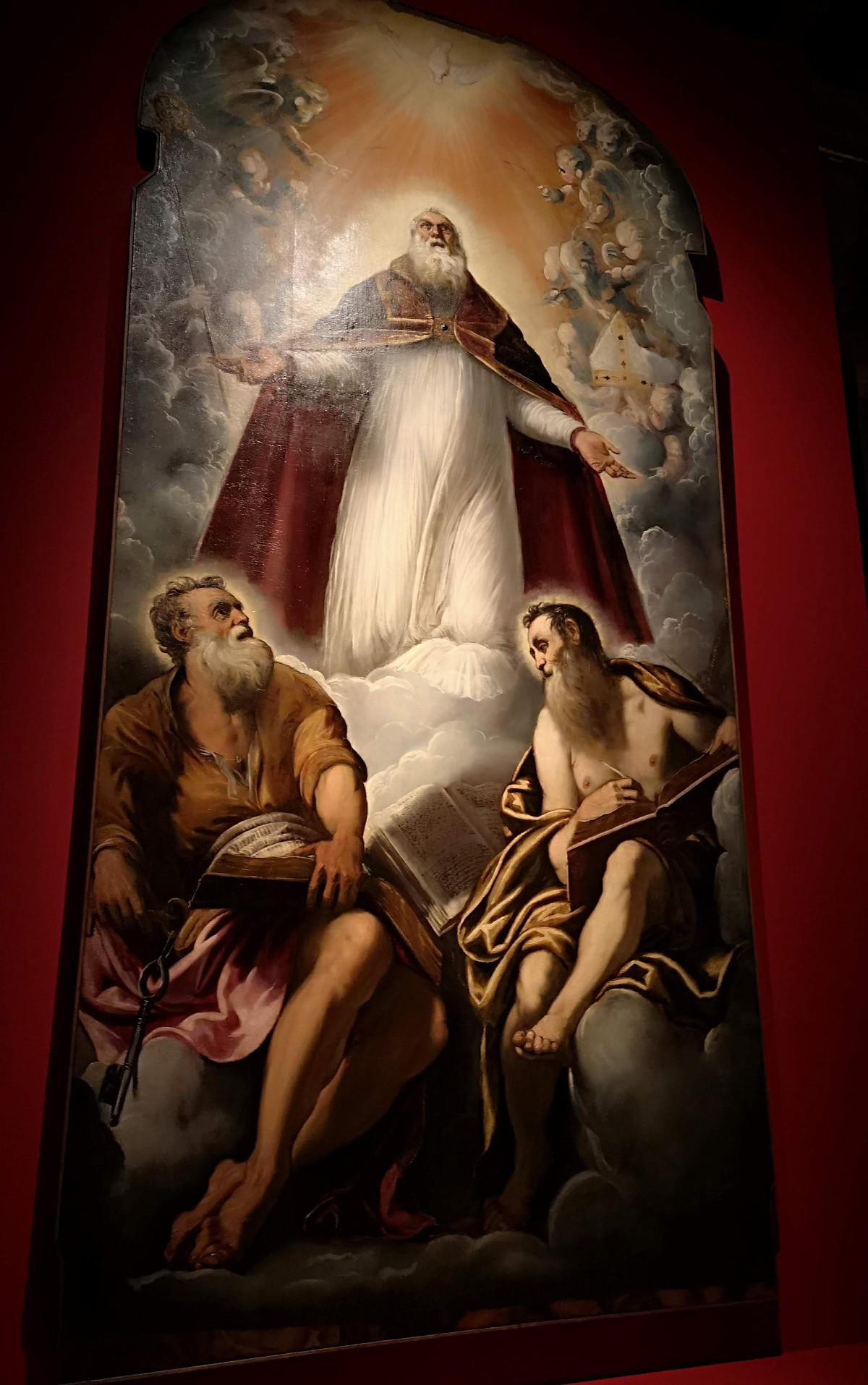 San Marziale in Gloria fra San Pietro e San Paolo - Jacopo Robusti, Tintoretto - Chiesa di San Marziale