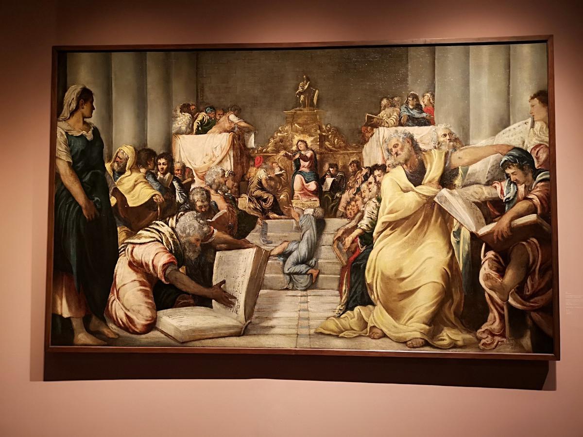 Disputa di Gesu nel Tempio - jacopo Robusti, Tintoretto - Museo del Duomo, Milano