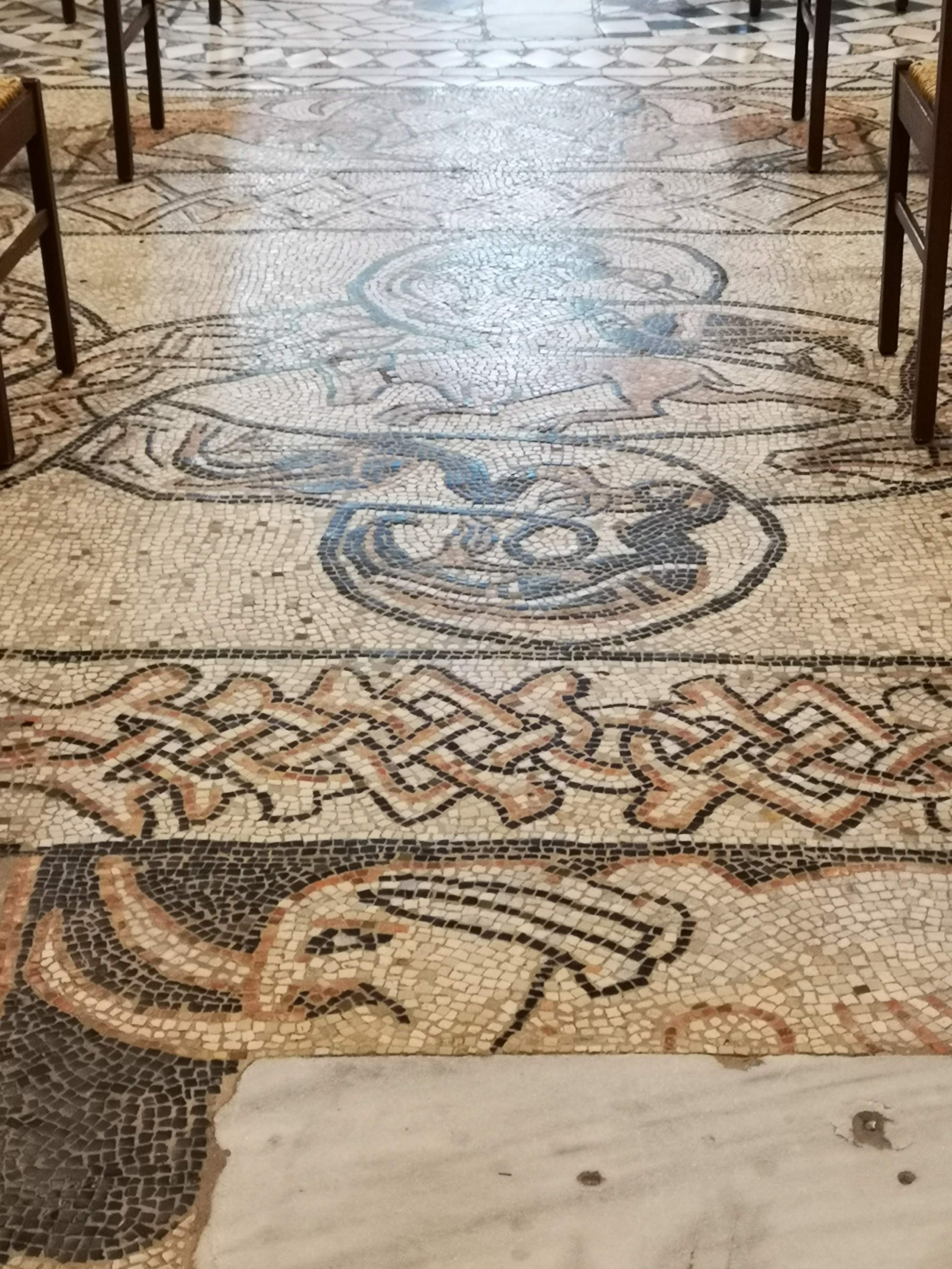 mosaic at abbey of pomposa