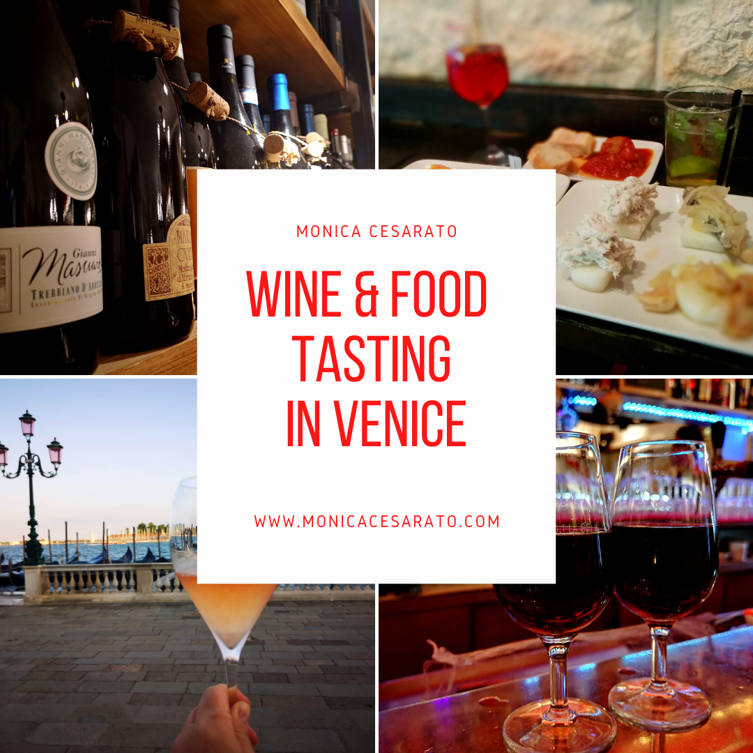 wine and food tasting in venice